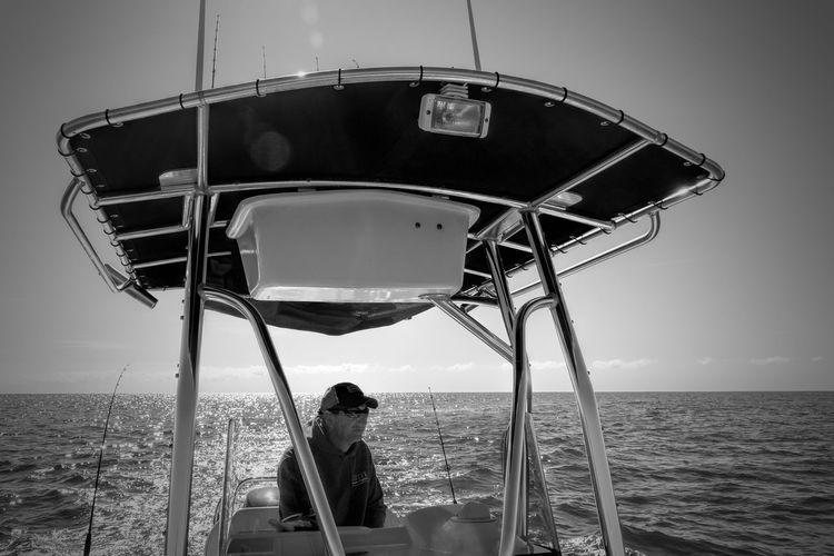 Decompress Time Blackandwhite Favorite Place One Man One Person Outdoors Saltwater Fishing Sea Sony Tranquility