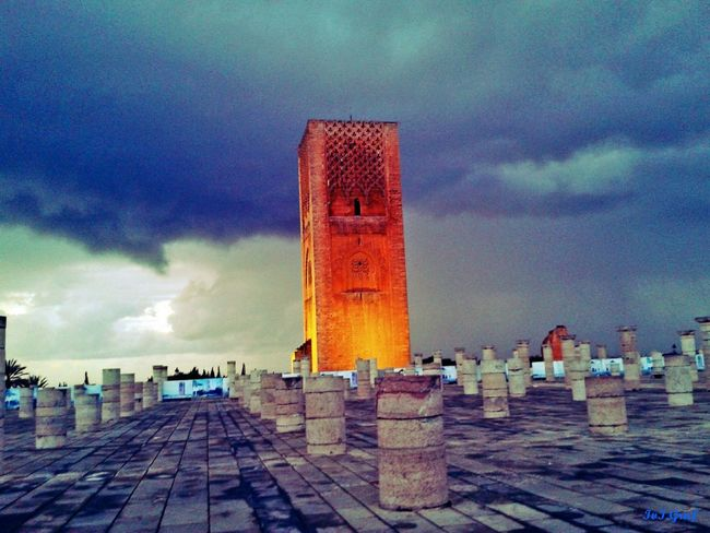 Architecture Building Exterior Built Structure Cloud - Sky Day Hassan Hassan Tower Morocco 🇲🇦 Nature No People Outdoors Rabat Morocco Sky