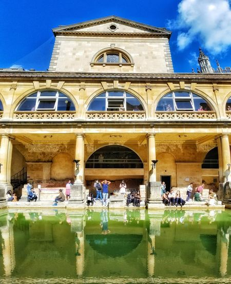 Architecture Building Exterior Built Structure Architectural Column History Travel Destinations Roman Bath Bath City Bath England Roman Architecture