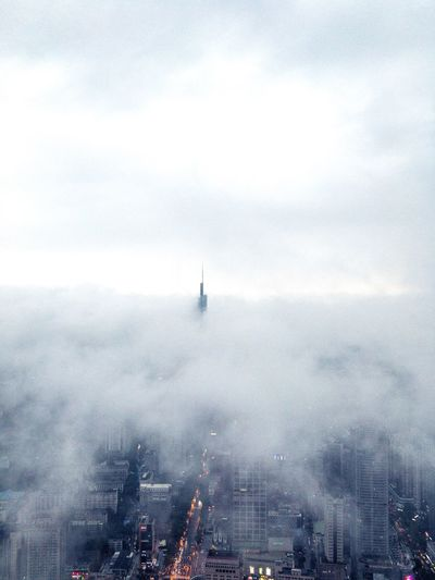 City above the clouds Nanjing Business Finance And Industry Business Cloud - Sky Water Nature Beauty In Nature Transportation Day Sea Sky Mode Of Transportation Nautical Vessel Scenics - Nature Tranquility Outdoors Sailboat No People High Angle View Travel Tranquil Scene Sailing