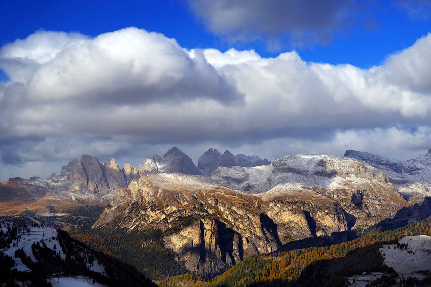 Dolomites Fall Beauty Landscape_Collection Travel Travel Photography UNESCO World Heritage Site Autimn Beauty In Nature Civetta Day Fall Italy Landscape Landscape_photography Mountain Nature No People Outdoors Sella Sky Sorapis Travel Destinations Unesco