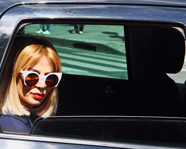 PFW. Zara Alexandrova Zara Alexandrova Fashionweek Woman Portrait Portrait Of A Woman Fashion Women Who Inspire You Open Edit By Car Car Facing Camera Sunglasses Beautiful Woman Mode Portrait Fashion Photography