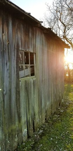 Sunset on barn Rural America Barn Wood Barn Window Outdoors No People Wood - Material Architecture Building Exterior Day Grass Sky