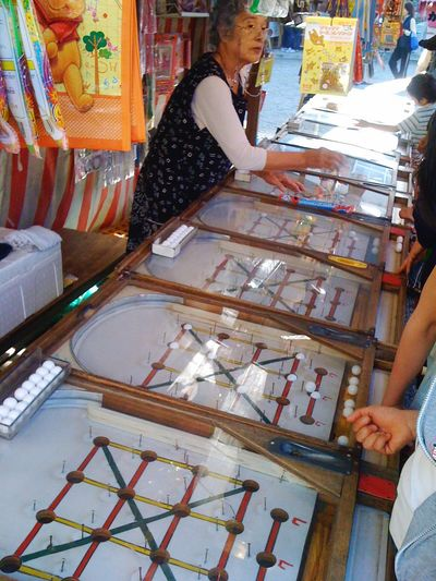 """omatsuri"" temple Japan Festival Pinball Day People Lifestyles Real People Tradition"