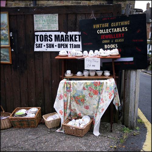 Antique Bricabrac Car Boot Sale Collectibles Grandma Tea Cups London Market Rubbish Shop Sunday Trading Vintage Shopping