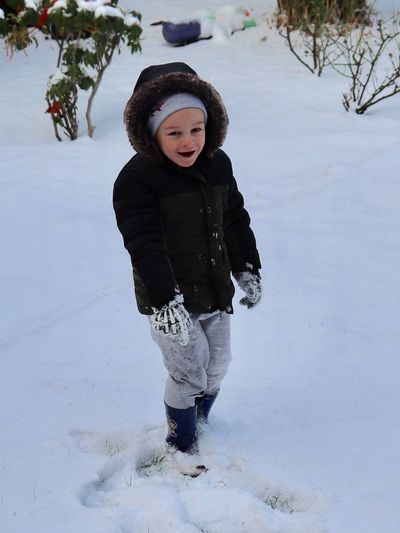 Winter Child Childhood Full Length Snow One Person Cold Temperature
