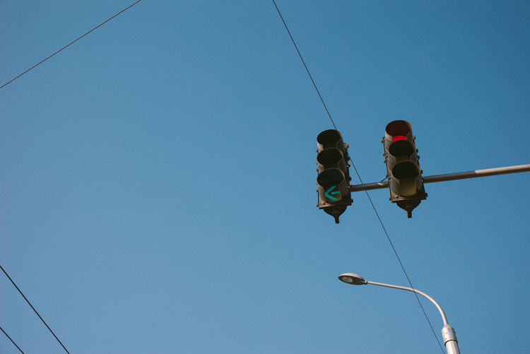 Low angle view of traffic lights
