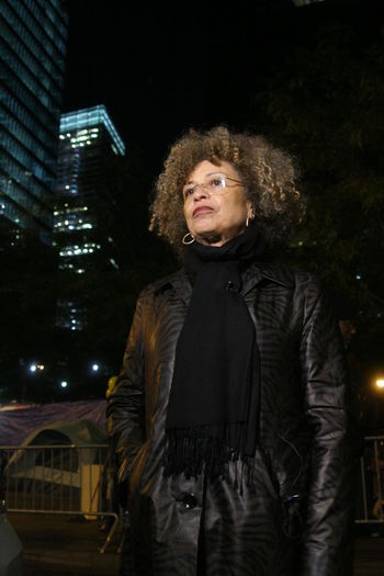 Activist  Angela Davis Black Panther Black Woman Civil Rights  New York City Nightphotography Occupy Wall Street Portrait Of A Woman Strong Women Professor Teacher Women Around The World HUAWEI Photo Award: After Dark