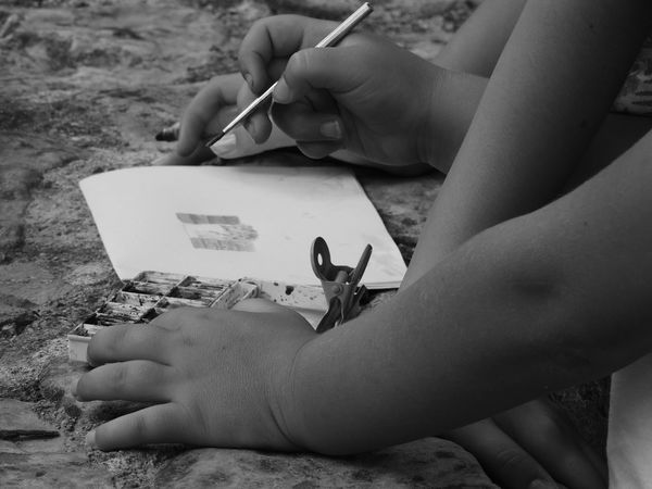 Art And Craft Artist Close-up Creativity Day Drawing - Activity Holding Human Body Part Human Hand Leisure Activity Nature One Person Outdoors People Real People Skill