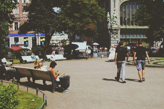People Russians St-Petersburg Summer