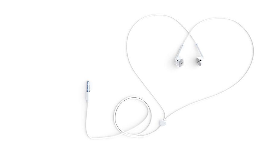 earphones white