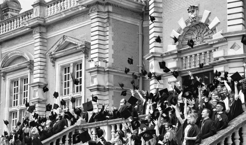 Celebration Event Graduation Blackandwhite Crowd Education Real People University