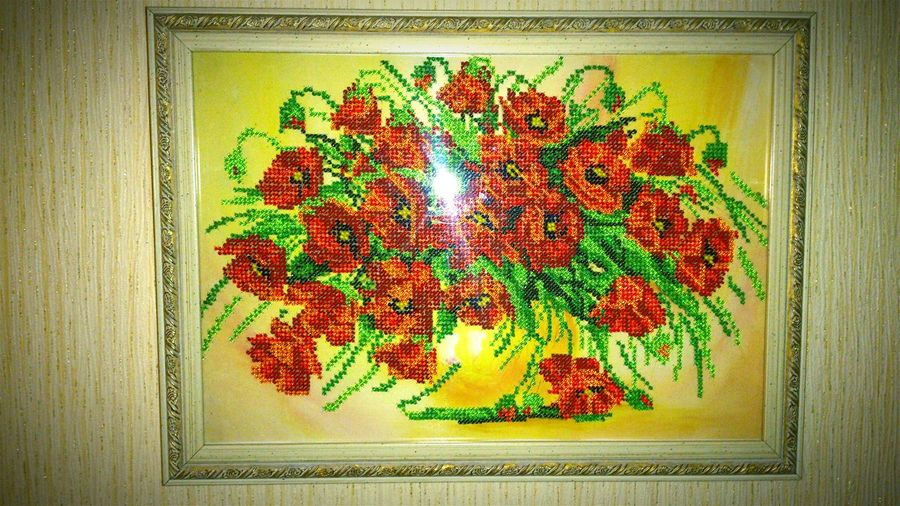 Handmade Beaded Beaded Embroidery Hobby Flowers