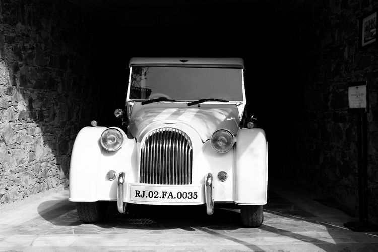 India Blackandwhite Black&white Rajasthan Fort Vintage Car Car Fine Art Photography Hidden Gems