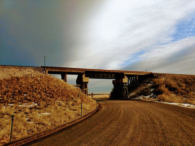 Rural Scene Rural America Rural Colorado Bridge - Man Made Structure Construction Site Road Mining Transportation Industry Built Structure No People Landscape Metal Industry Outdoors Nature Sky Cloud - Sky Day