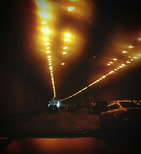 San Francisco Tunnel Tunnel Of Light Transportation Car Illuminated On The Move Motion Road Journey On The Road Mode Of Transport The Way Forward Land Vehicle Traffic