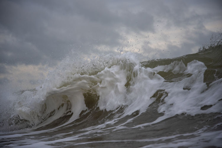 Low angle view of wave against sky
