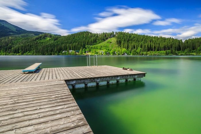 Erlaufsee Water Nature Sky Beauty In Nature Tree Scenics Mountain Lake Outdoors No People Cloud - Sky Day