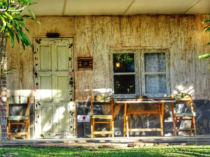 Home Resort Door Away A Chair Wooden Windows Wooden Home Wooden Chair Old Ancient Vintage Sun Light Shadow Light And Shadow