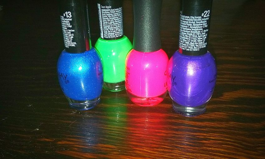 My wife's nail polish Color Splash Color Explosion Polish Nailpolish Nailpolished