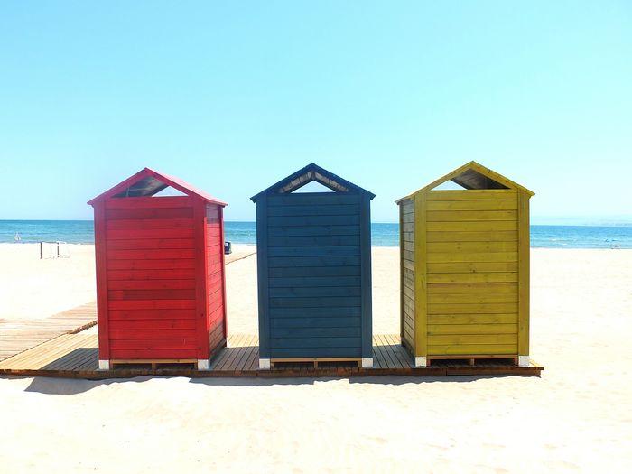 casetas playa Multi Colored Wood - Material Sunlight Sunny