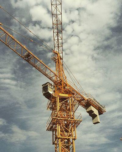 Go Up Near Tower Crane At Work Civil Engineer Citystar Sky Cloud Zoomlion Yellow 8ton