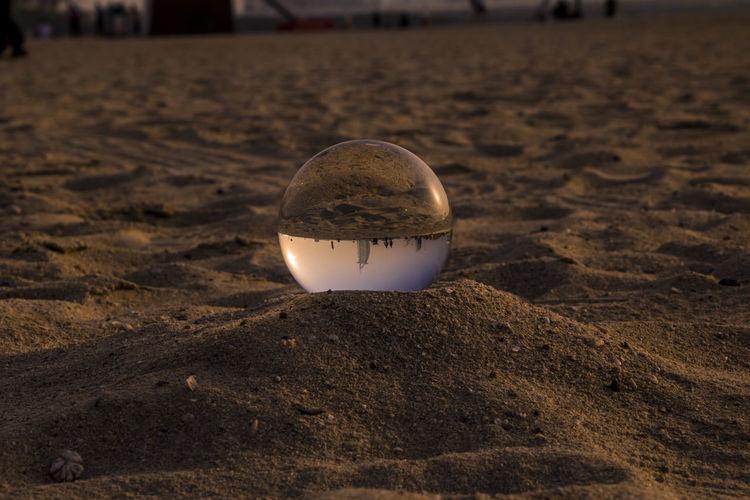 Lens Ball Sand Sand Dubai Burj Khalifa Perspectives on Nature Beach Sand Tennis Ball Close-up Globe Baseball - Ball