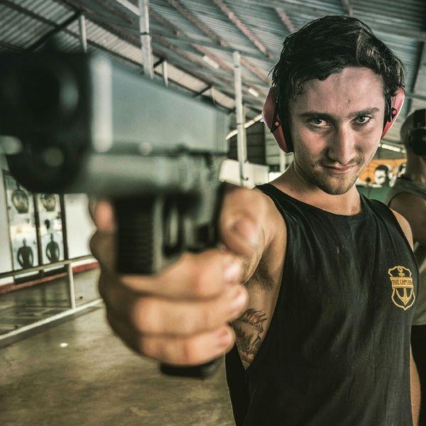 That one time in Thailand when Gun safety flew out the window! Gun Range Portrait Portraits GH4 Holidays
