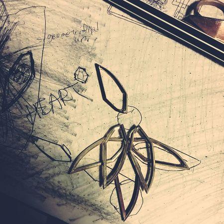 Signature shape assembly Jewelrydesign Metalsmith