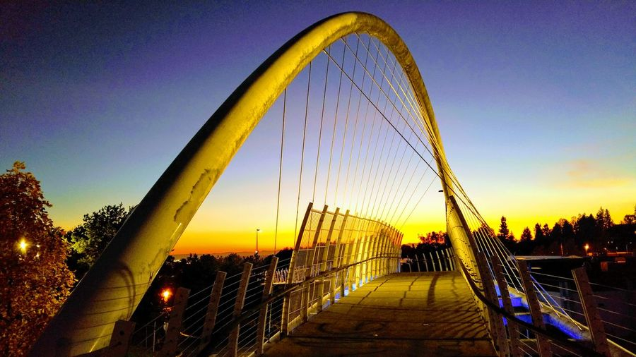Sunset Bridge - Man Made Structure Sky No People Outdoors Built Structure Architecture City Water Nature Night The Graphic City Colour Your Horizn