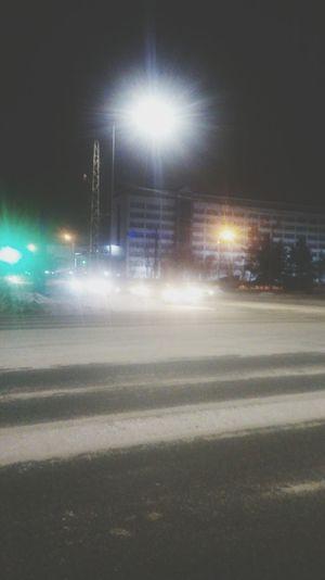 Night Street Light Illuminated No People Outdoors