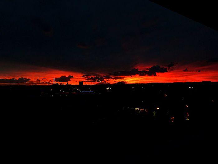 Sonnenuntergang in Halle Sommergefühle