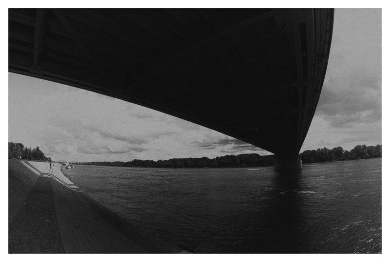Toruń Thorn Wisła Vistula River River Bridge Black & White Blackandwhite B&w Framed White Frame Under The Bridge Black And White Friday