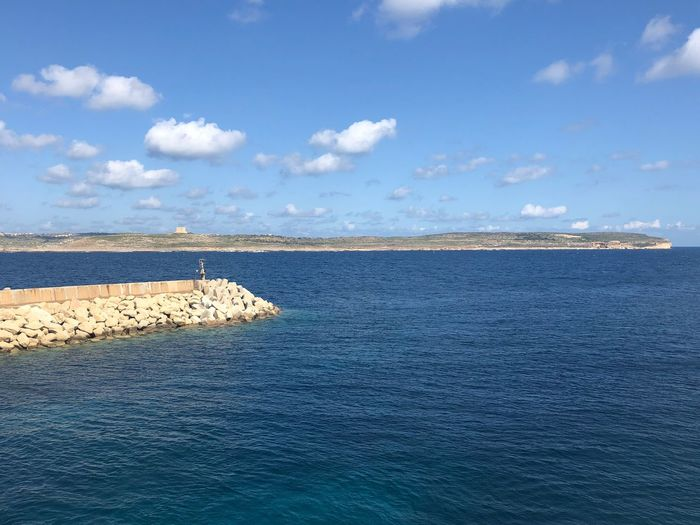 Malta Nofilter Sea Water Tranquil Scene Beauty In Nature Tranquility Nature Scenics Cloud - Sky Sky Beach Blue