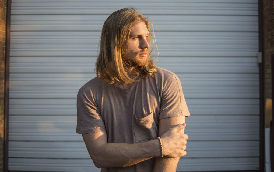 Nathan Beard Beautiful People Beauty Contemplation Dallas Dallas Texas Dallas Tx Day Depression - Sadness Golden Hour Handsome Lifestyles Outdoors People Portrait Standing Sunset Waist Up