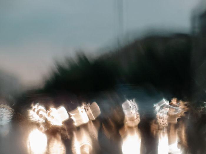 Abstract Abstract Photography Blue Bokeh City Life Day Defocused Dimlights Illuminated Illumination Lights Motion Rain Reflections Road Water