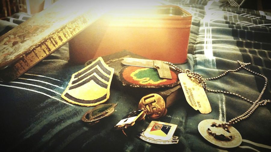What I Value Box Full Of Memories Grandfather Military