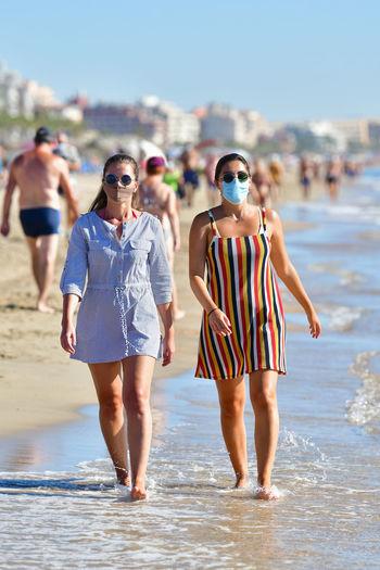 Full length of women on beach