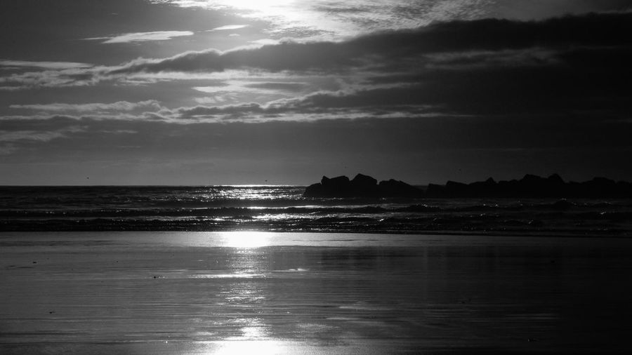 sunset Water Sky Sea Land Cloud - Sky Beach Beauty In Nature Scenics - Nature Horizon Tranquility Nature Horizon Over Water Reflection Tranquil Scene No People Sunlight Outdoors Non-urban Scene Idyllic Agadir
