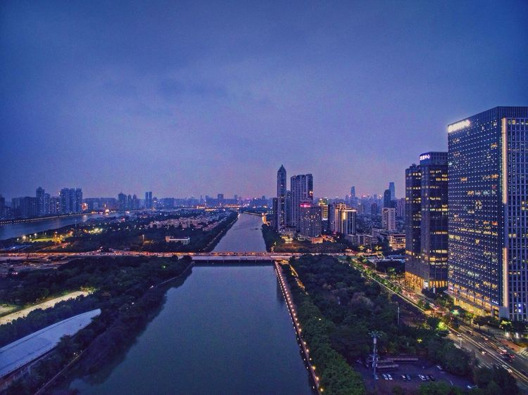 珠江水 Zhujiang New Town Guangzhou China Night Lights Aerial Shot Dji Building Check This Out Night