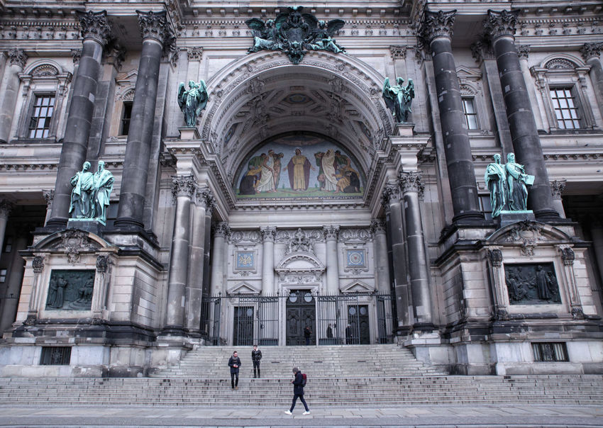 Architectural Column Architecture Building Exterior Built Structure City Day Discover Berlin Façade History Human Representation Male Likeness Outdoors Place Of Worship Real People Sculpture Statue Tourism Travel Destinations