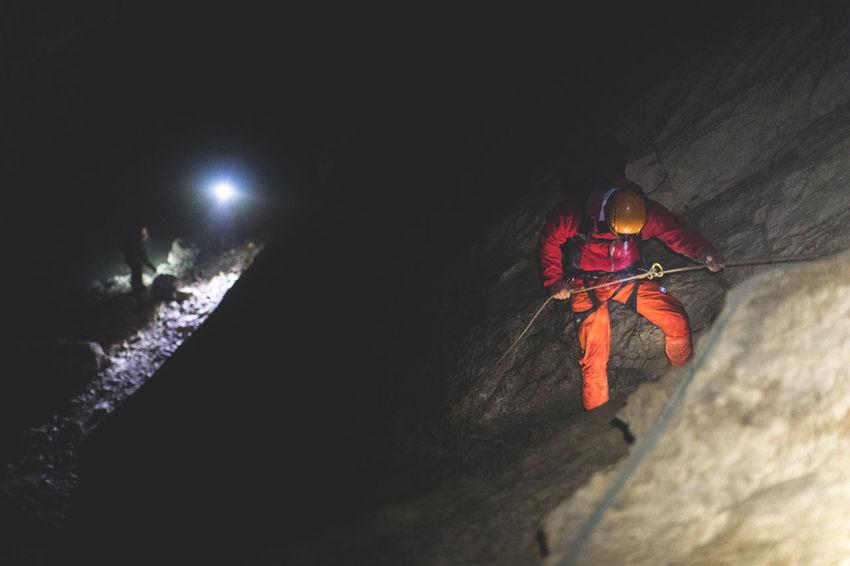 ..deep into the mountain! Adventure Cave Climbing Dark Exploring Friend Ice Outdoors Rock Climbing Sport