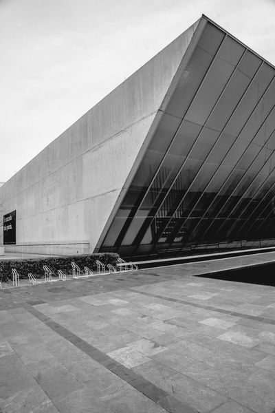 Abstract Photography Architecture Architecture Architecture_bw Architecture_collection Black And White Black And White Collection  Black And White Photography Building Building Exterior Built Structure City Day Fine Art Photography Mexico Modern Modern Architecture No People Office Building Outdoors Sculpture Garden Sky Tall - High Travel Destinations UNAM