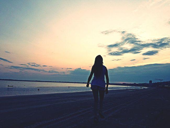 Enjoying The Sunset France Beach Photography The Traveler - 2014 Eyem Awards