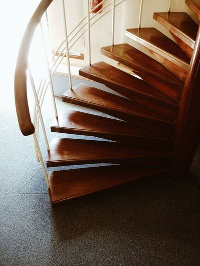 Close-up of steps at home