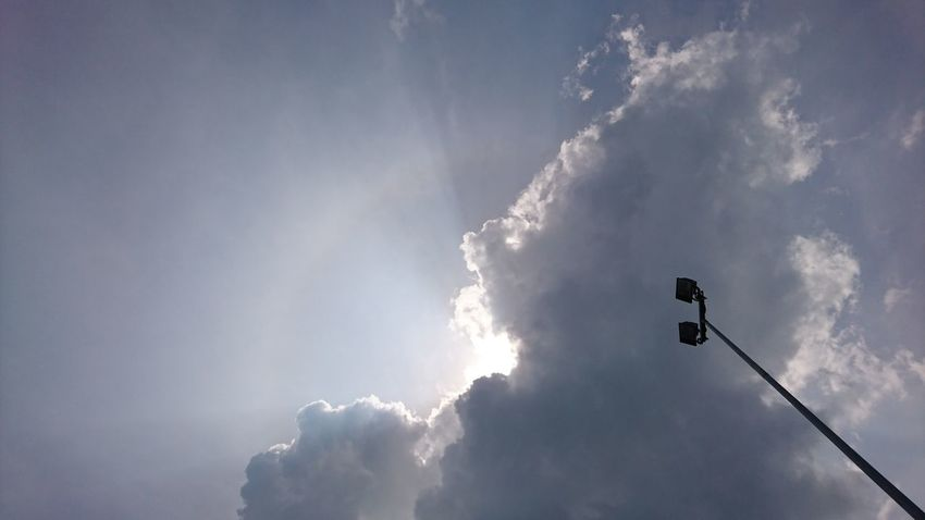 Sky No People Nature Beauty In Nature Day Outdoors Lightpost Sun Hiddensun Behindtheclouds Cloud - Sky Beauty In Nature