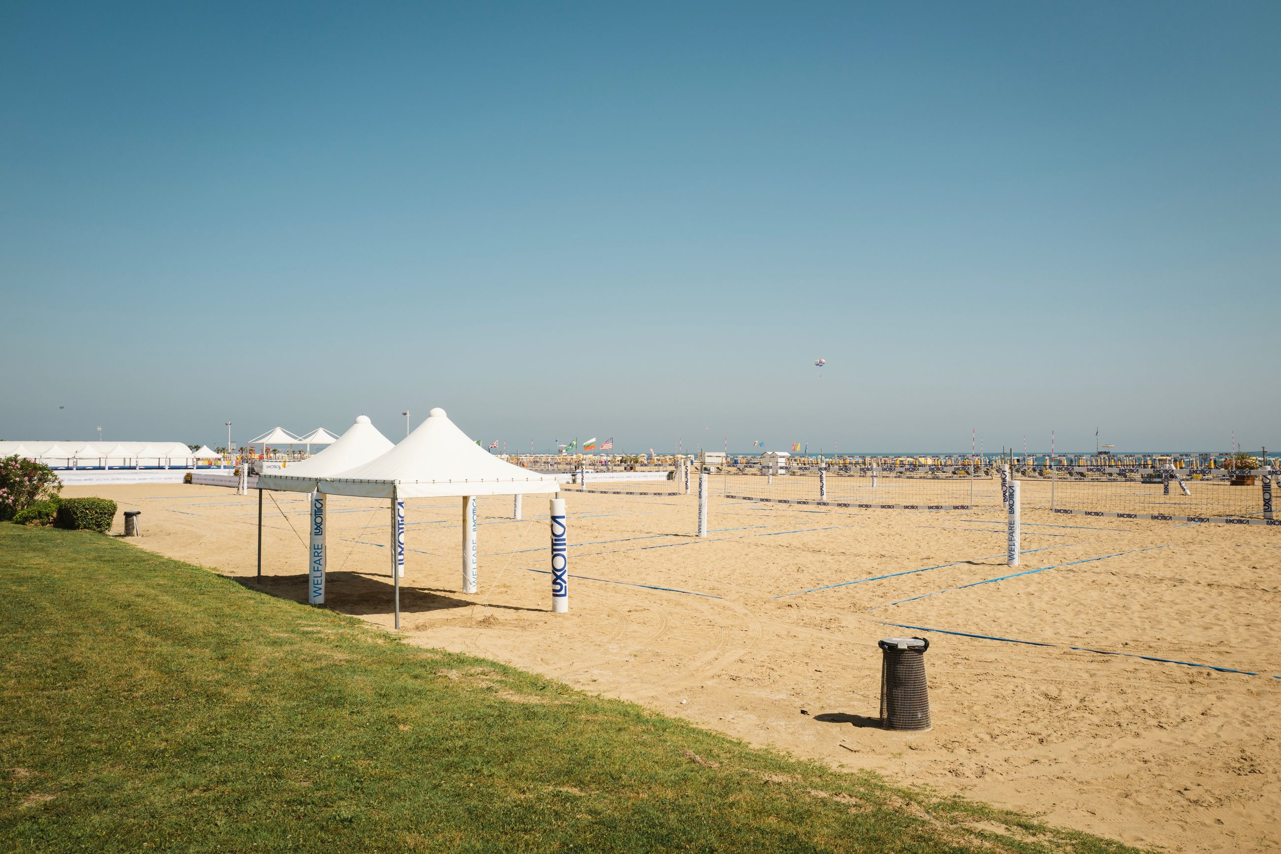 sky, land, clear sky, nature, copy space, day, beach, sunlight, blue, grass, sport, scenics - nature, architecture, environment, incidental people, tranquil scene, tranquility, landscape, sand, outdoors