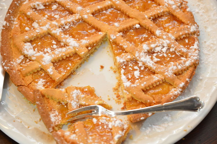 crostata marmellata albicocche Albicocche Apricots Baked Cake Marmalade Pie Crostata Food And Drink Dessert Food No People Sweet Food Close-up Indoors  Ready-to-eat
