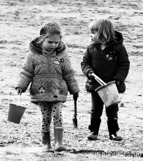 Monochrome Portrait Children Blackandwhite
