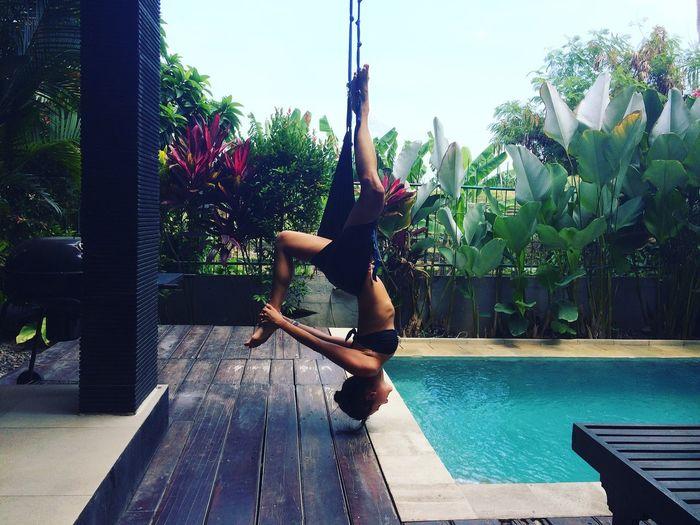 🙏🏻🌸 Bali Morning Yoga Swimming Pool